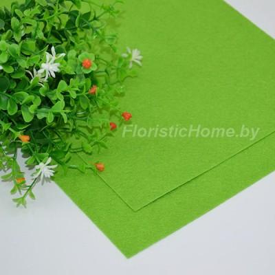 ФЕТР жёсткий 1 мм , L 20 см х h 30 см, зелено-салатовый