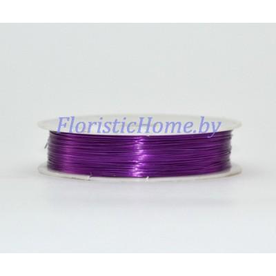 ПРОВОЛОКА , для бисера на катушке, d 0,4 мм х L 50 м, 50 гр., темно-фиолетовый