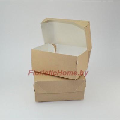 КРАФТ КОРОБКА eco cake 1200 без окна, L15 х 10 см х h 8.5 см, натуральный,