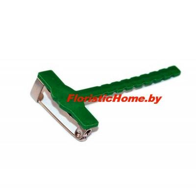 КРЕПЛЕНИЕ ДЛЯ БУТОНЬЕРКИ Пластиковое на булавке, L 5 см, ярко-зеленый