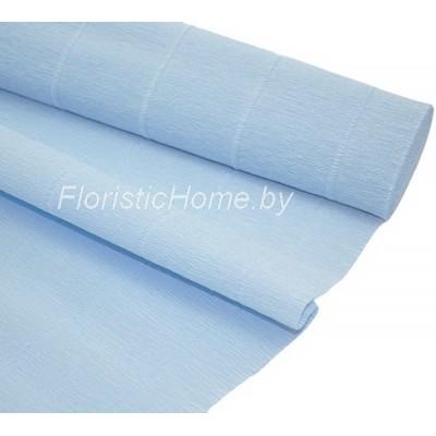 ГОФРОБУМАГА Италия 180 г/м, 559, h 50 см х 250 см, светло-голубой