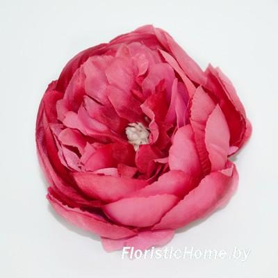 ГОЛОВКИ ЦВЕТОВ Пион, d 9 см x L 6 см, темно-красный-кораллово-розовый
