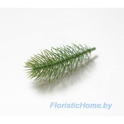 ВЕТКА Лапка елки одиночная, Пластик, L 9.5 -11,5 см., зеленый
