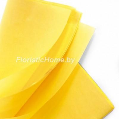 БУМАГА ТИШЬЮ 1 шт., h 50 см х L 75 cм, желтый