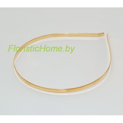 ОБРУЧ -ОСНОВА Плоский верх, d 0,5 см, металл, золотой
