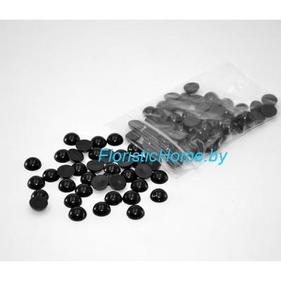 БУСИНКА, полубусина, d 0,4 см, 20 гр., черный