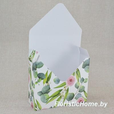 КОНВЕРТ Коробка, 17 см х 6 см х h 29,5 см, Дизайн №37