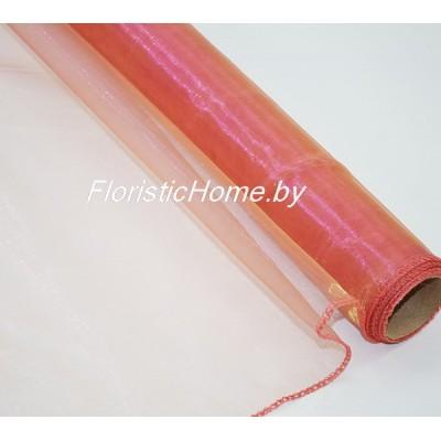 ОРГАНЗА перелив, h 38 см х 8 м, розовый-золото