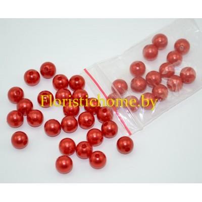БУСИНКА, круглая, d 0,8 см, 20 гр., красный