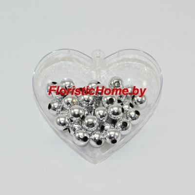 БУСИНКА, металлизир. круглая, d 1 см, 20 гр., стальной металлик