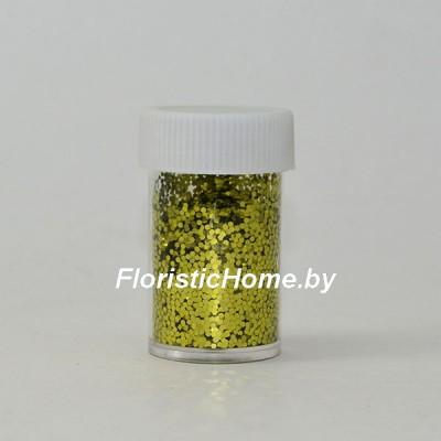 БЛЕСТКИ В тубе 12-16 гр. , крупной фракции, оливковый,