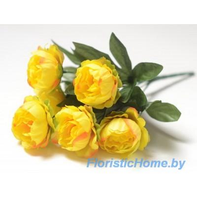БУКЕТ ЦВЕТОВ Пионы, h 31 см, темно-желтый