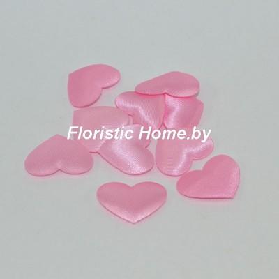 ДЕКОР  Патчи тканевые Сердца 10 шт., ткань, 2 см, розовый,