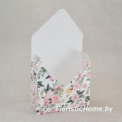 КОНВЕРТ Коробка, 17 см х 6 см х h 29,5 см, Дизайн №29