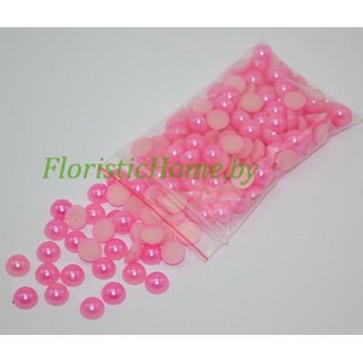 ПОЛУБУСИНА под жемчуг, d 0,4 см, розовый, 20 гр.