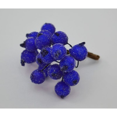 Клюква в сахаре на проволоке 20 ягод ., d 1,2 см, ярко-синий