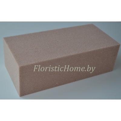 ГУБКА ФЛОРИСТИЧЕСКАЯ  Для сухих и искусственных цветов, брикет, 23 см х 11 см х h 7.5 см