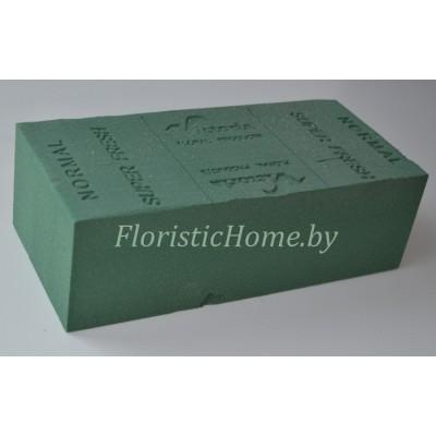 ГУБКА ФЛОРИСТИЧЕСКАЯ  Для живых цветов, брикет, 23 см х 11 см х h 7.5 см