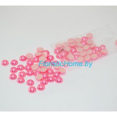 БУСИНКА, полубусина, d 0,8 см, 20 гр., темно-розовый