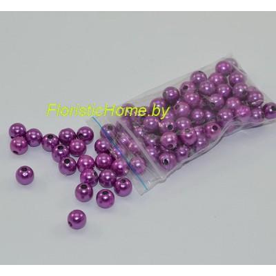 БУСИНКА, круглая, d 0,8 см, 20 гр., фиолетовый