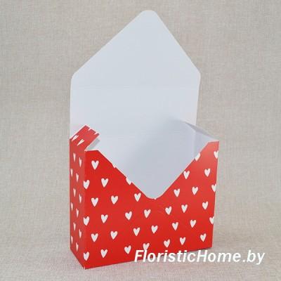 КОНВЕРТ Коробка, 17 см х 6 см х h 29,5 см, Дизайн №38