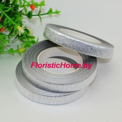 ТЕЙП-ЛЕНТА , ш. 1,3 см х L 27 м, серебро