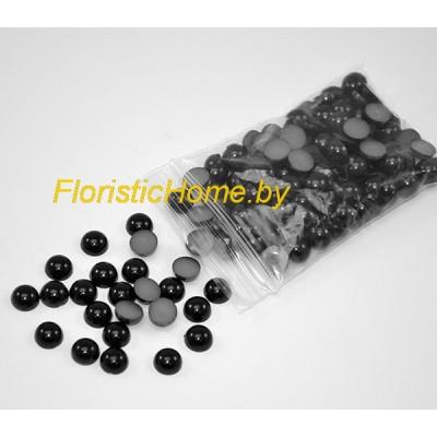 БУСИНКА, полубусина, d 0,6 см, 20 гр., черный