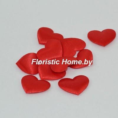 ДЕКОР  Патчи тканевые Сердца 10 шт., ткань, 2 см, красный,