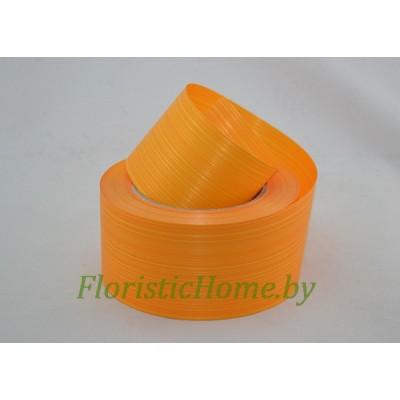 ЛЕНТА ПОЛИПРОПИЛЕНОВАЯ аспидистра, h 6 см х  1 м, светло-оранжевый