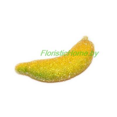 Банан  в сахаре, L 4,5 см, темно-желтый - салатовый