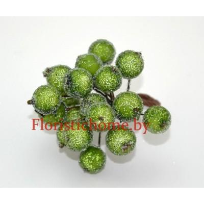 Клюква в сахаре на проволоке 20 ягод ., d 1,2 см, травяной