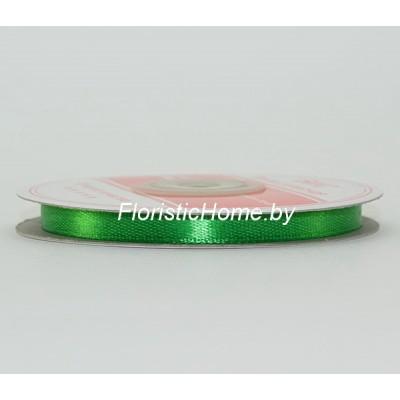 ЛЕНТА атласная, h 0,6 см х 1 м, зеленый