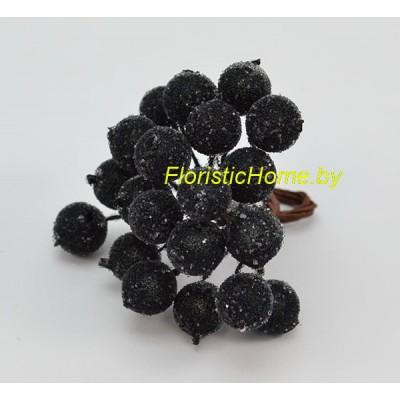 Клюква в сахаре на проволоке 20 ягод ., d 1,2 см, черный
