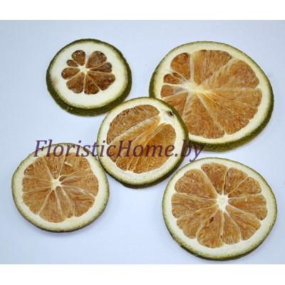 ПЛОДЫ Срезы лайма 5 шт., , d 4-6 см, болотный-оранжевый