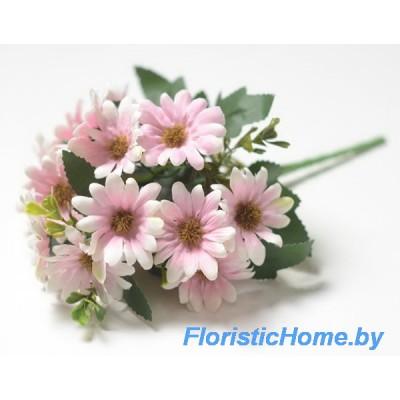 БУКЕТ ЦВЕТОВ Хризантемы, L 28 см, светло-розовый