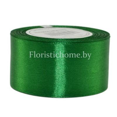 ЛЕНТА атласная, h 3,8 см х 1 м, зеленый
