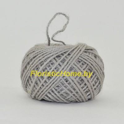 ШПАГАТ ДЖУТОВЫЙ  d 0,2 см х 1 м , серый
