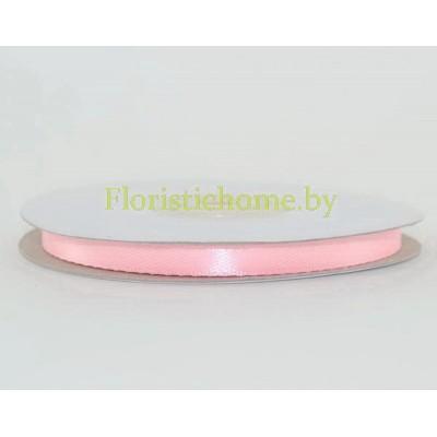ЛЕНТА атласная, h 0,6 см х 27 м , светло-розовый