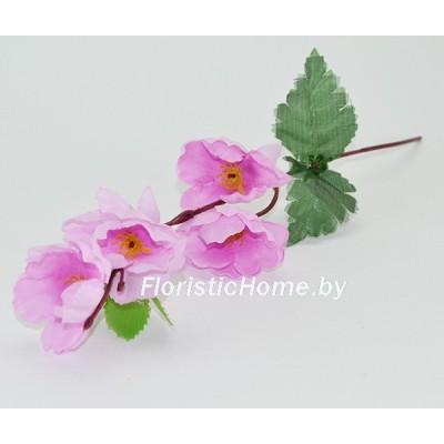 ИСКУССТВЕННЫЙ ЦВЕТОК Сакура, ткань, h 28 см, лавандово-розовый
