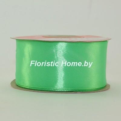 ЛЕНТА атласная, h 3,8 см х 1 м, ярко-мятно-зеленый
