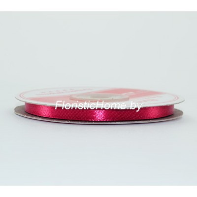 ЛЕНТА атласная, h 0,6 см х 1 м, малиново-вишневый
