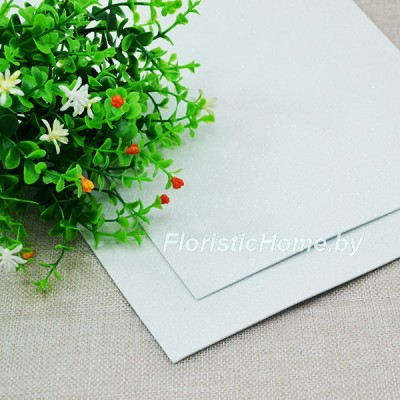 ФОАМИРАН Глиттерный 2 мм, L 20 см х h 30 см, белый перламутр
