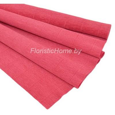 ГОФРОБУМАГА Италия 180 г/м, 17А/6, h 50 см х 250 см, пыльно-красный
