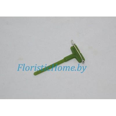КРЕПЛЕНИЕ ДЛЯ БУТОНЬЕРКИ Пластиковое на булавке, L 5 см, зеленый