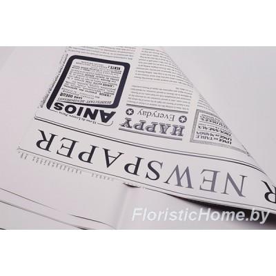 """ПЛЕНКА матовая """"Newspaper"""" 1 лист, h 60 см х L 60 см, лилово-серый-черный"""