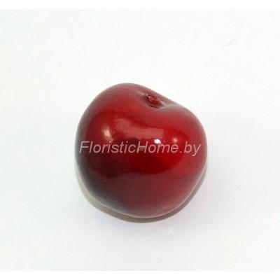 Ягода черешни, d 2,6 см, красный-бордовый