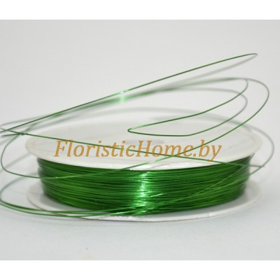 ПРОВОЛОКА , на катушке, d 0,3 мм х L 50 м, 50 гр., зеленый