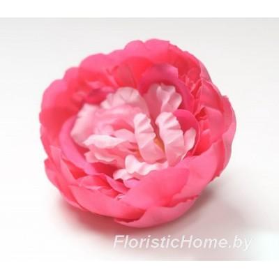 ГОЛОВКИ ЦВЕТОВ Пион, d 10 см, пурпурно-малиновый-нежно-розовый
