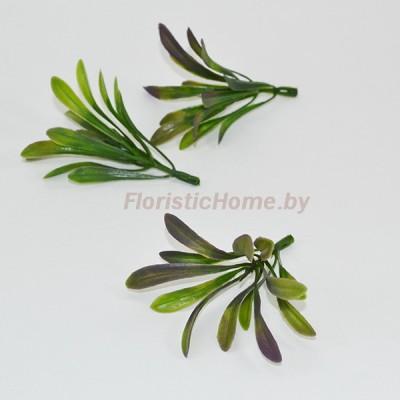 ВЕТКА Зелени с вытянутыми листочками, Пластик, L 8,5 см, темно-сиреневый-зеленый