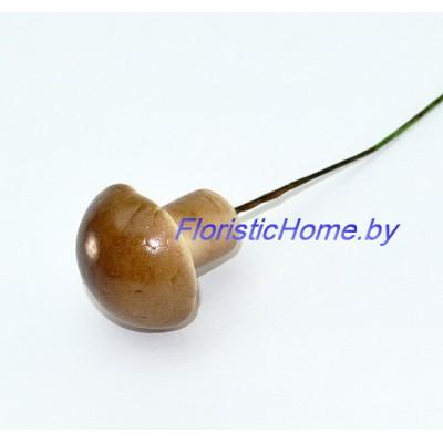 Гриб  Масленок на проволоке, d 2,3 см х h 2,8 см, коричневый-песочный